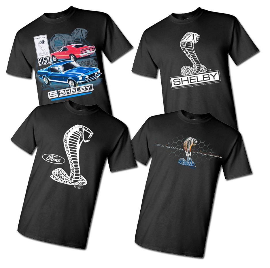 Ford Mustang Racing Stripe Design Blue Men S Size Tee: Officially Licensed Shelby Cobra T Shirt Ford Mustang