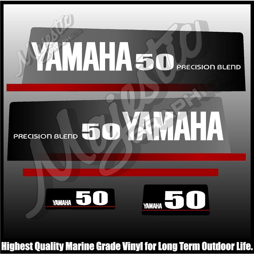 OUTBOARD DECALS YAMAHA 50 hp PRECISION BLEND