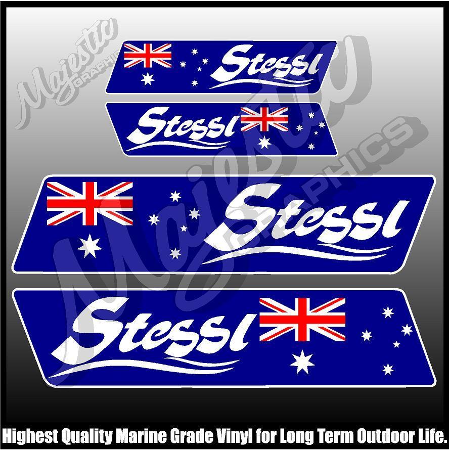 STESSL 450mm x 160mm X 2 BOAT DECALS