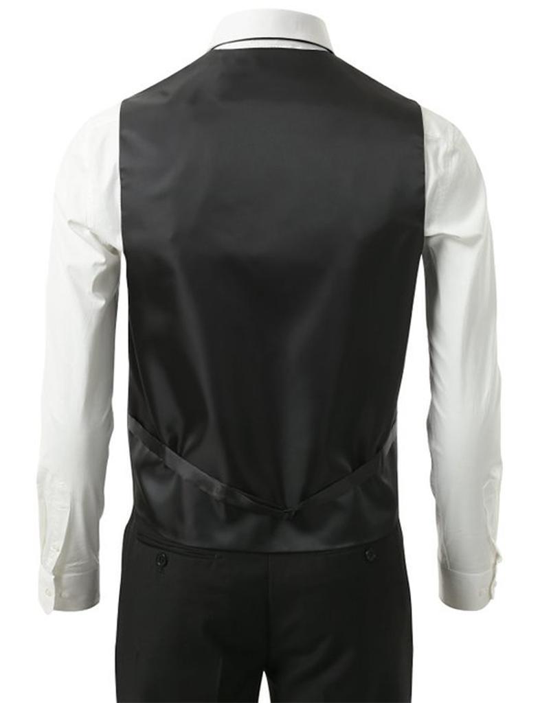 SET Vest Tie Hankie Fashion Men's Formal Dress Suit Slim ...