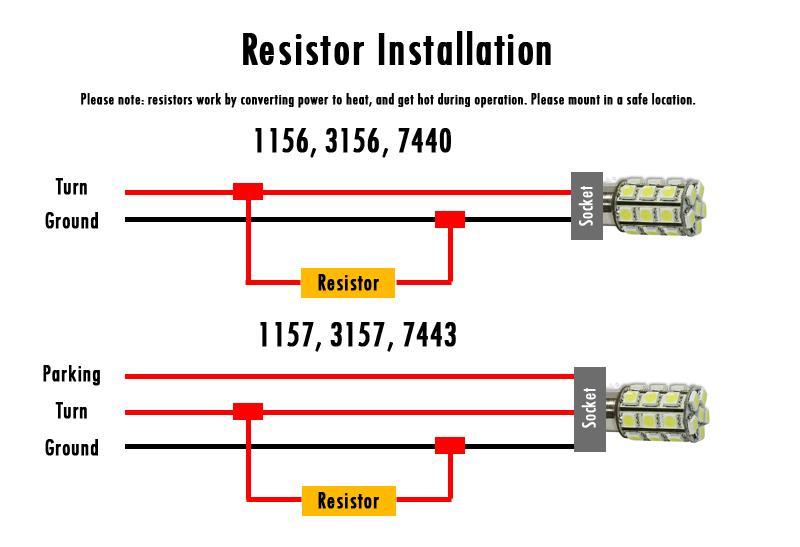 6x 50w Load 6 Ohm Resistor 12v Fix Fast Led Smd Blink