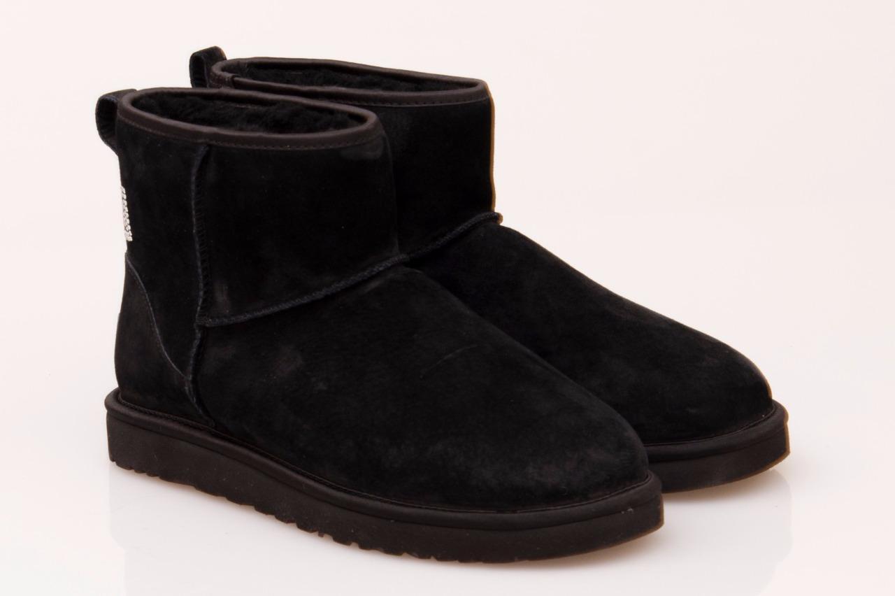 9f0c74d822e Womens Ugg Australia Black Classic Mini Crystal Bow Boots - cheap ...