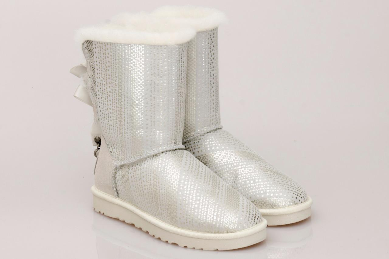 999f2845f9d20 Ugg Womens Bailey Bow Bling Classic Boots White