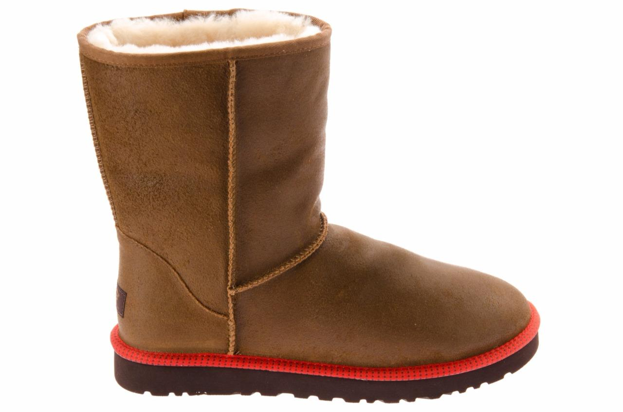 Ugg Men Classic Short Leather Chestnut Boots 1003950 Size