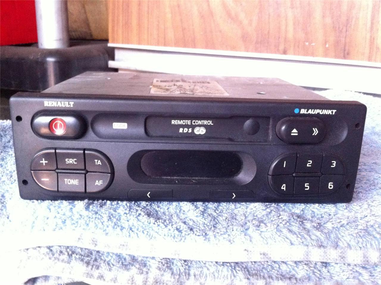 renault kangoo blaupunkt tape cassette player stereo head unit radio code ebay. Black Bedroom Furniture Sets. Home Design Ideas