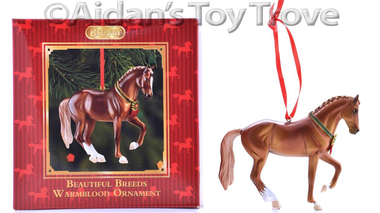 Image is loading Breyer-BEAUTIFUL-BREEDS-WARMBLOOD-ORNAMENT-2014-Christmas -Holiday-