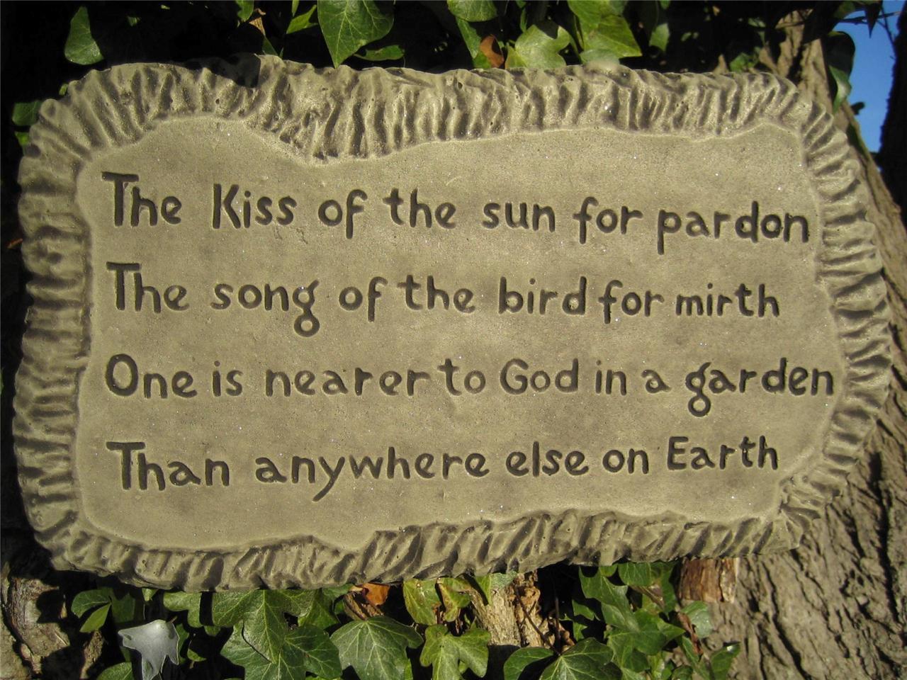 Kiss Of The Sun Wall Plaque Stone Garden Ornament