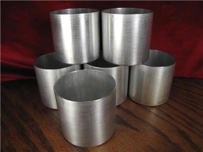 "7 3/"" Aluminum Seamless Candle Mold set of - Contoured Base No Wick Holes"