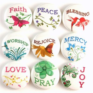 Religious Inspirational Words Church Fridge Magnet Pin