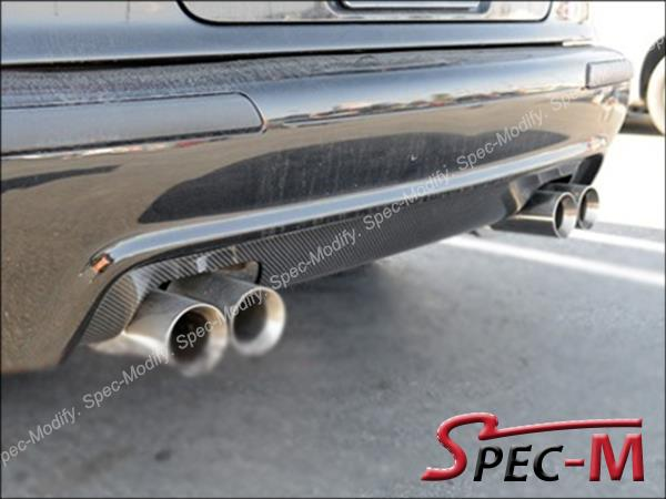 96-03 BMW E39 5-Series M5 Only Exo Look 4Dr Rear Bumper Diffuser Carbon Fiber