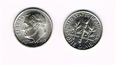 BU from OBW Bank Roll 2 Coins 2013 P and 2013 D Roosevelt Dimes