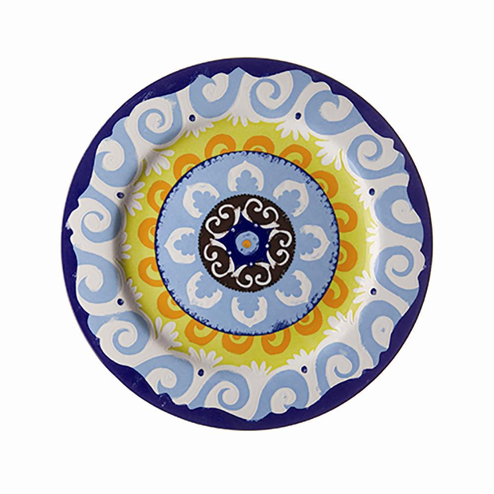 nador set of 6 dinner plates mediterranean style free next day delivery ebay. Black Bedroom Furniture Sets. Home Design Ideas