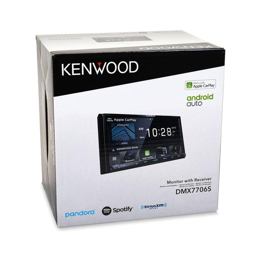 Kenwood DMX7706S 6.95 Digital Media Receiver w//Bluetooth Apple CarPlay and Android Auto