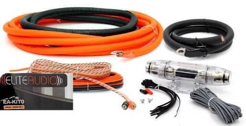 Premium Power Wire Wiring Kit 3000w Anl Install Car Amplifier Ebay
