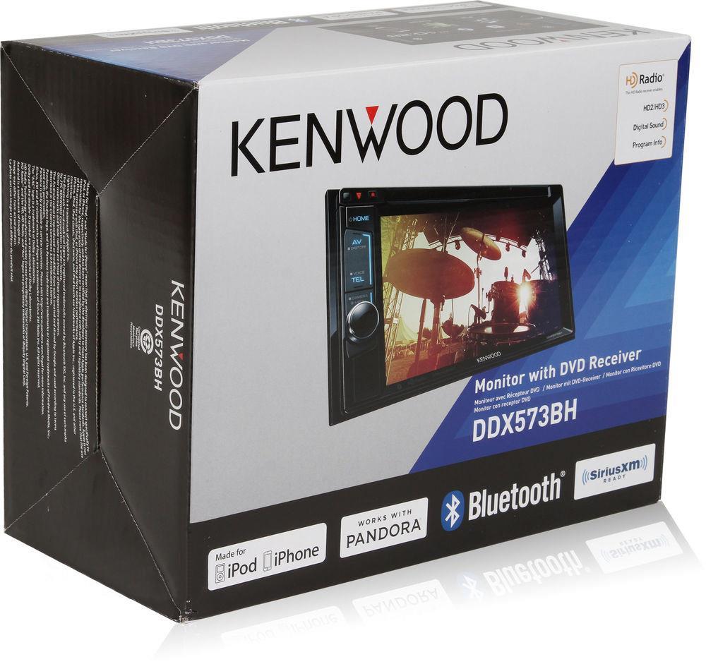 kenwood ddx573bh 2 din bluetooth in dash dvd receiver 6 2. Black Bedroom Furniture Sets. Home Design Ideas