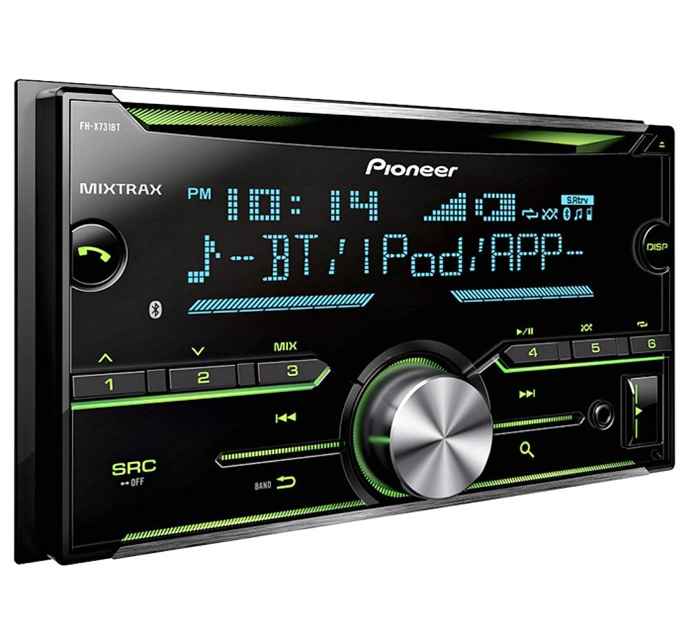 pioneer fh x731bt 2 din car stereo in dash cd receiver w. Black Bedroom Furniture Sets. Home Design Ideas