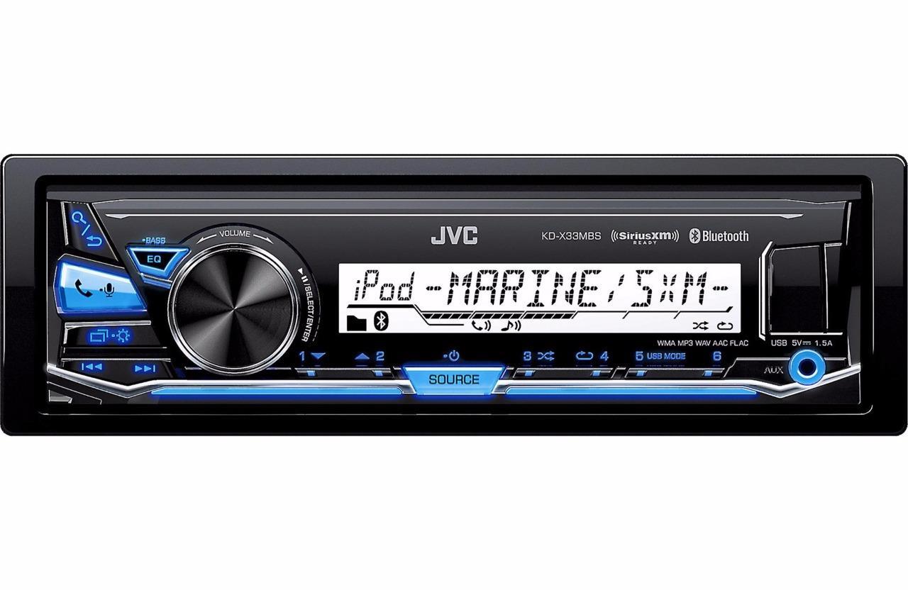 JVC KD-X33MBS 1-DIN Marine Grade Bluetooth Digital Media