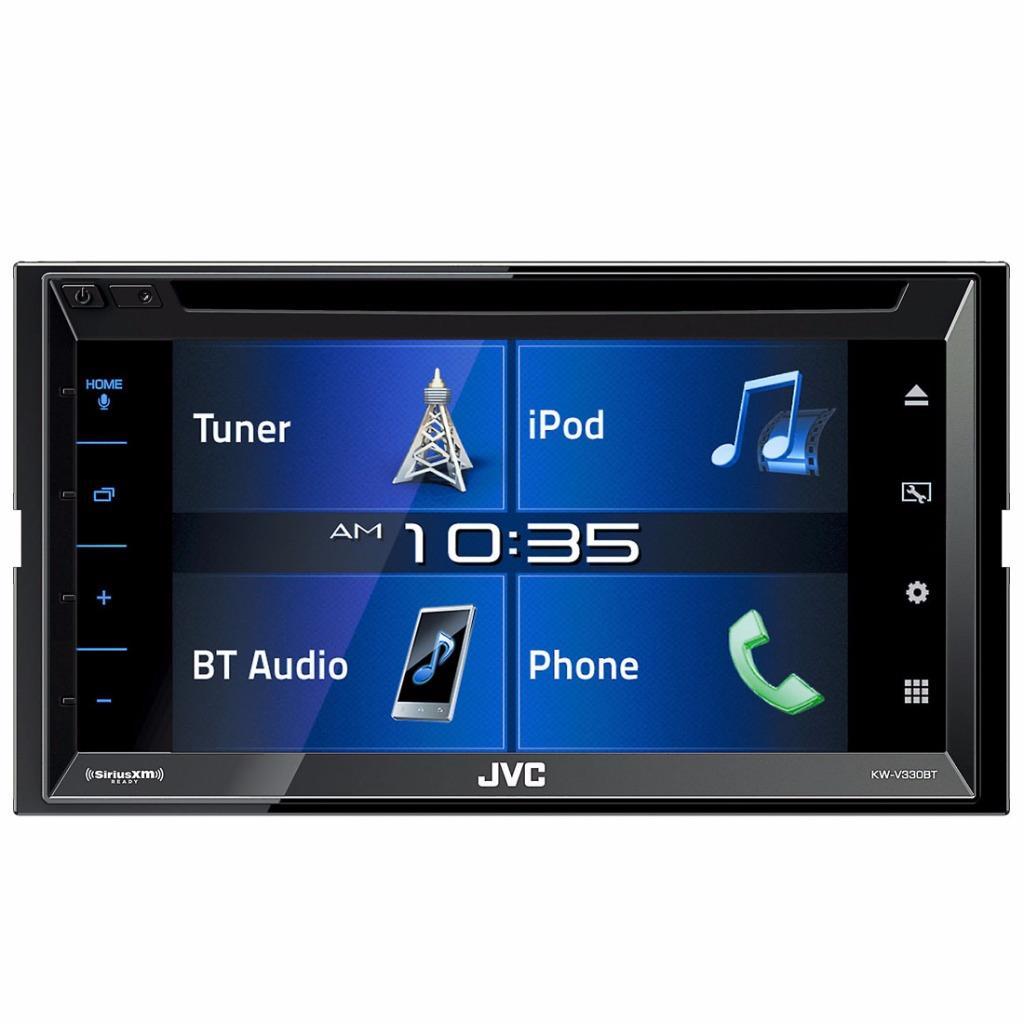 jvc kw v330bt 2 din car in dash bluetooth dvd receiver w. Black Bedroom Furniture Sets. Home Design Ideas