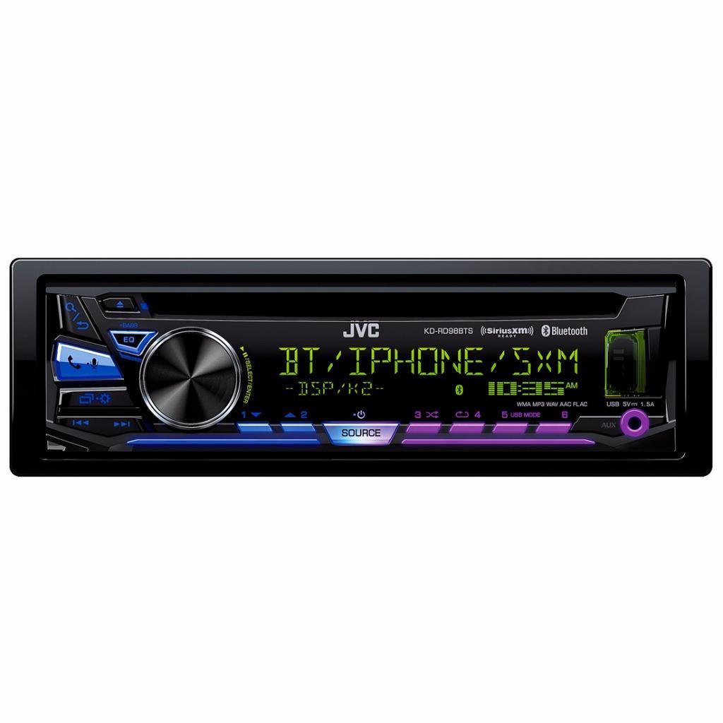 JVC KD-RD98BTS 1-DIN Car Stereo In-Dash Bluetooth CD MP3