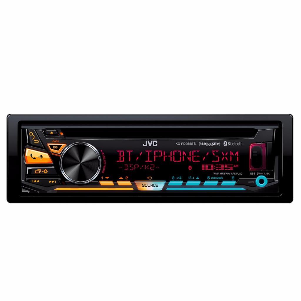 jvc kd rd98bts 1 din car stereo in dash bluetooth cd mp3. Black Bedroom Furniture Sets. Home Design Ideas