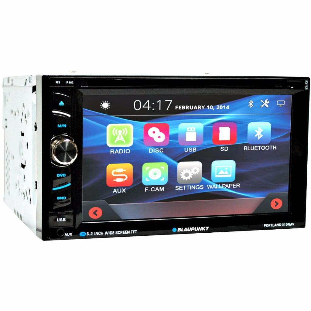 blaupunkt portland 310nav 2 din dvd bluetooth nav receiver. Black Bedroom Furniture Sets. Home Design Ideas