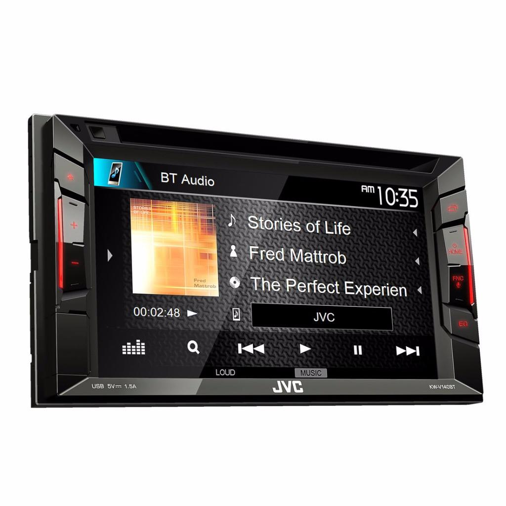 jvc kw v140bt 2 din car in dash cd dvd bluetooth receiver w 6 2 touchscreen ebay. Black Bedroom Furniture Sets. Home Design Ideas