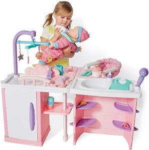 Baby Doll Nursery Play Set Baby Bath Change Table Feeding
