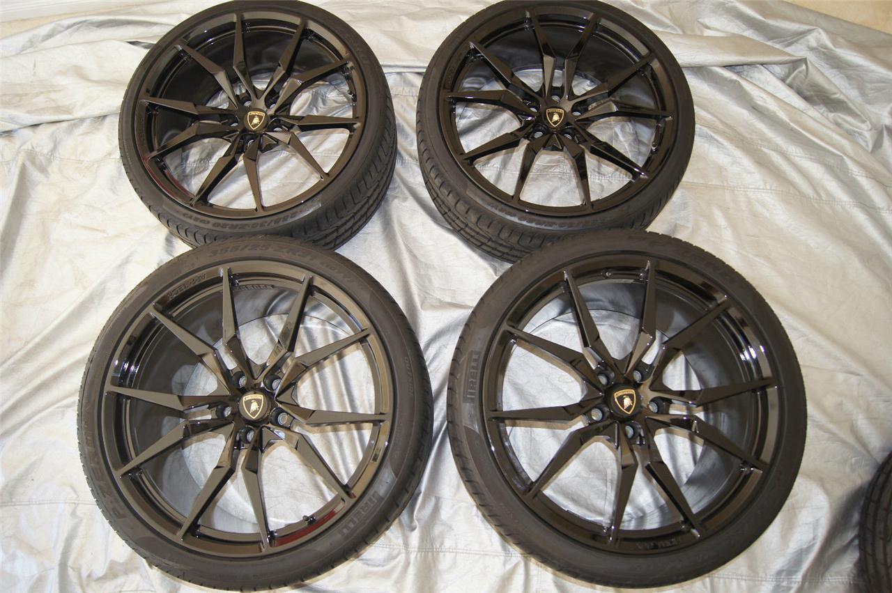 """Lamborghini LP700 4 Aventador """"Sensors"""" Dione Wheels Tires Rims TPMS 20 21"""