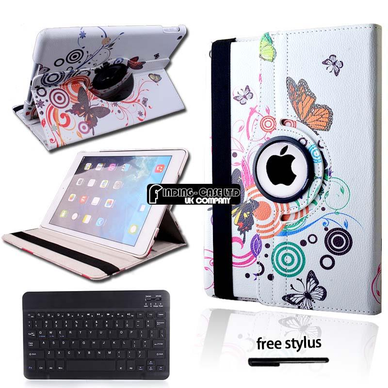 Leather-Stand-Cover-Case-With-Wireless-Bluetooth-Keyboard-For-iPad-2-3-4-Air-Pro Indexbild 11