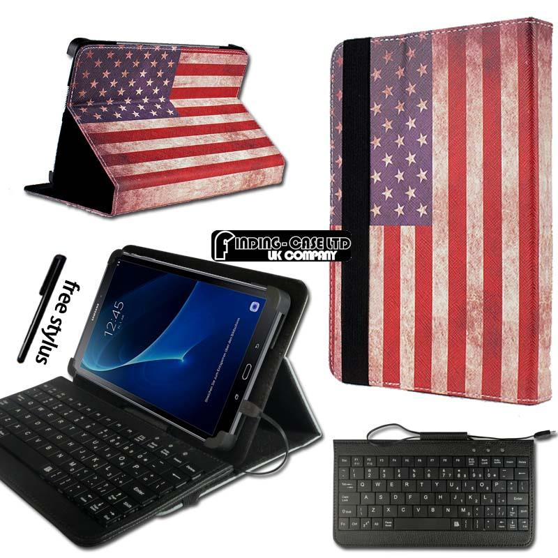 Leather-Stand-Cover-Case-Keyboard-For-7-034-8-034-10-034-Samsung-Galaxy-Tab-A-A6-Tablet