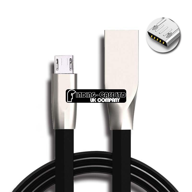 Alliage-de-Zinc-Micro-USB-de-charge-Cable-de-Chargeur-Transfert-de-donnees-pour-Samsung-Galaxy