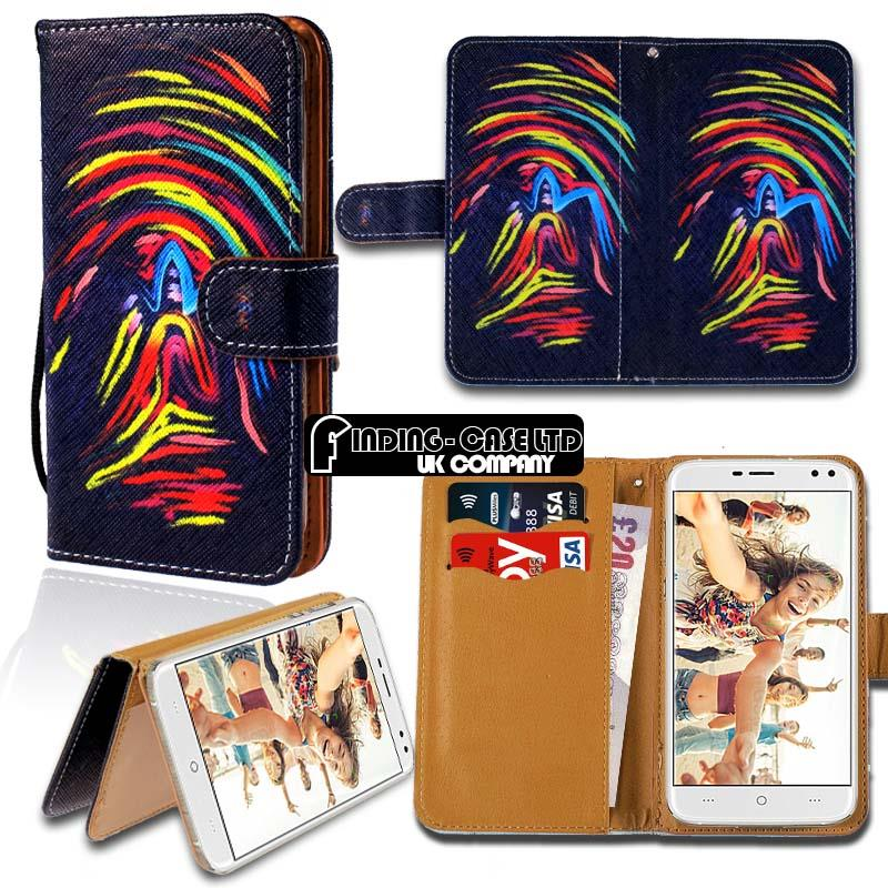 thumbnail 4 - For Various Doogee X Series Phones Leather Smart Stand Wallet Case Cover