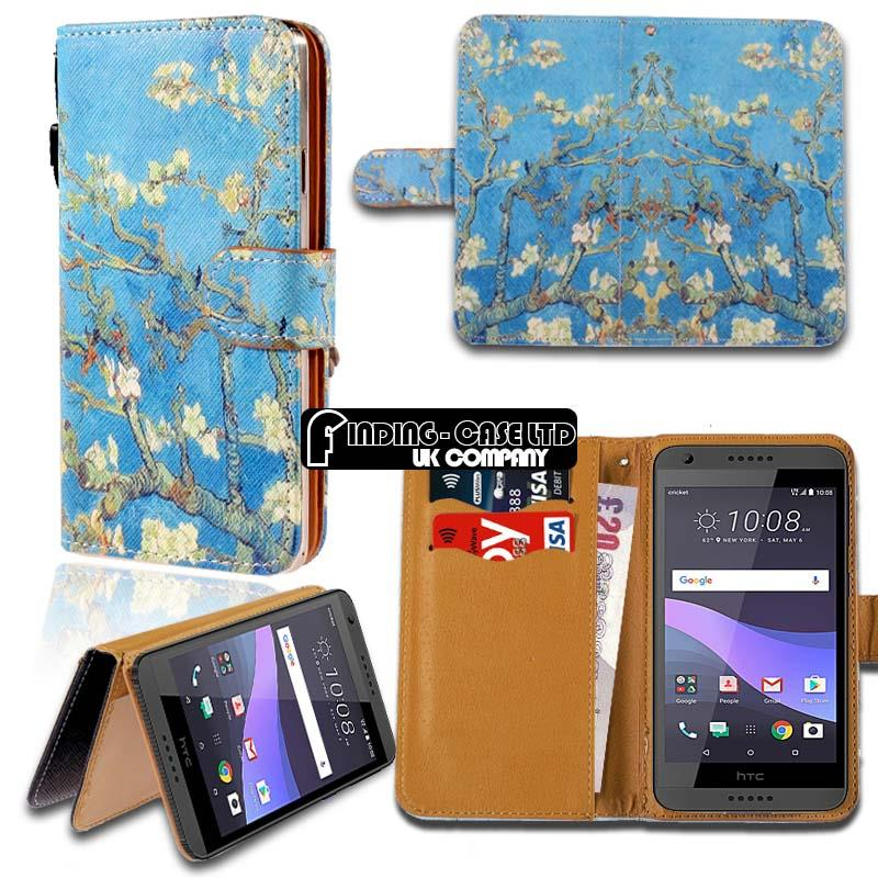 For-Various-HTC-Desire-Phones-Leather-Smart-Stand-Wallet-Case-Cover miniatuur 7