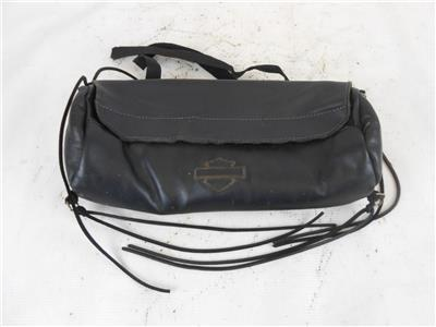 Harley Davidson Leather Windshield Storage Pouch Bag