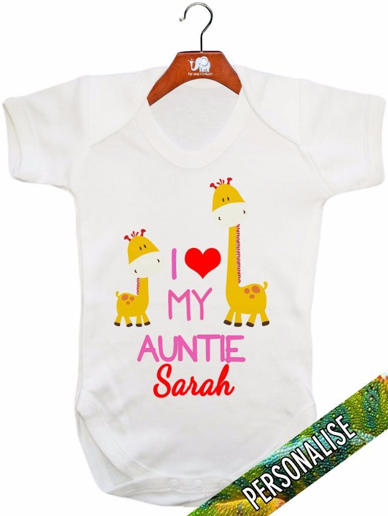 """Amo mia zia /""""PERSONALIZZATO/"""" Baby Canotta//Baby grow//Baby Pagliaccetto"""
