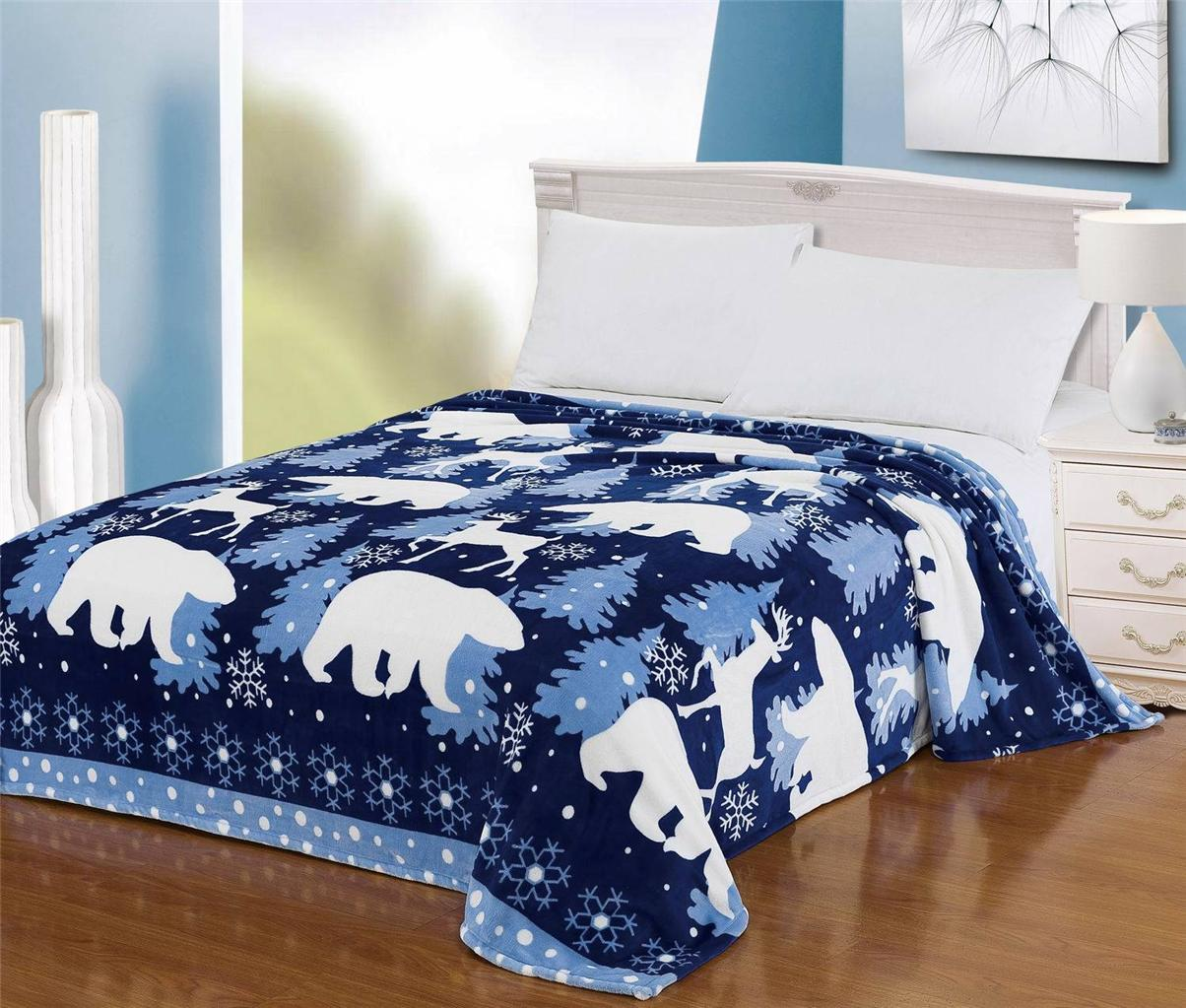 Euphoria Super Soft Snug Throw Blanket Bedspread Polar