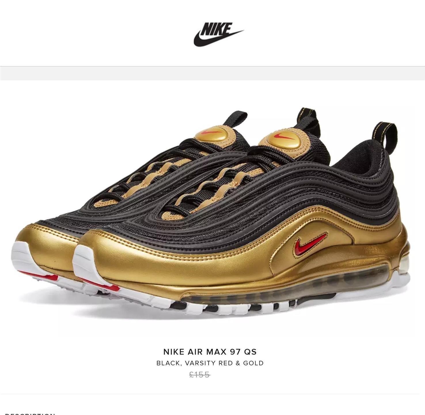 Nike | AIR MAX 97 QS | Nero, Varsity Rosso e Oro | AT5458
