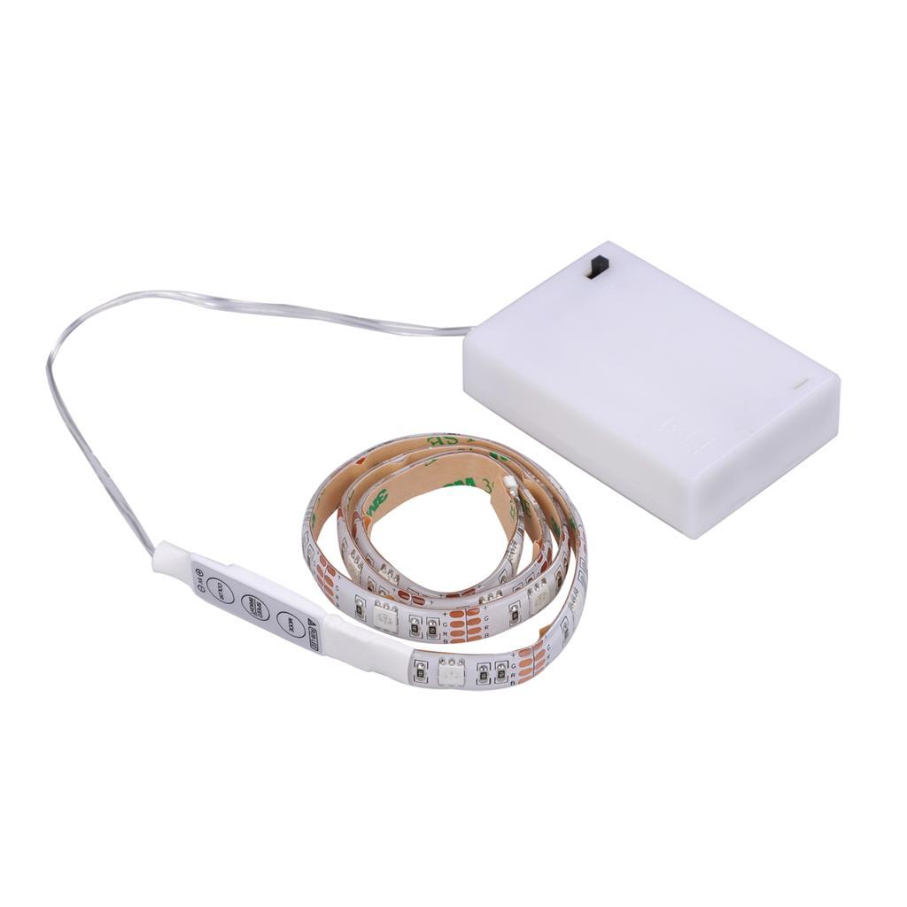 led light rgb strip 50cm battery box mini. Black Bedroom Furniture Sets. Home Design Ideas