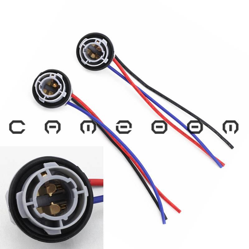 1157 2057 2357 7528 Led Bulb Signal Tail Brake Light Socket Harness Adapter Pair Ebay