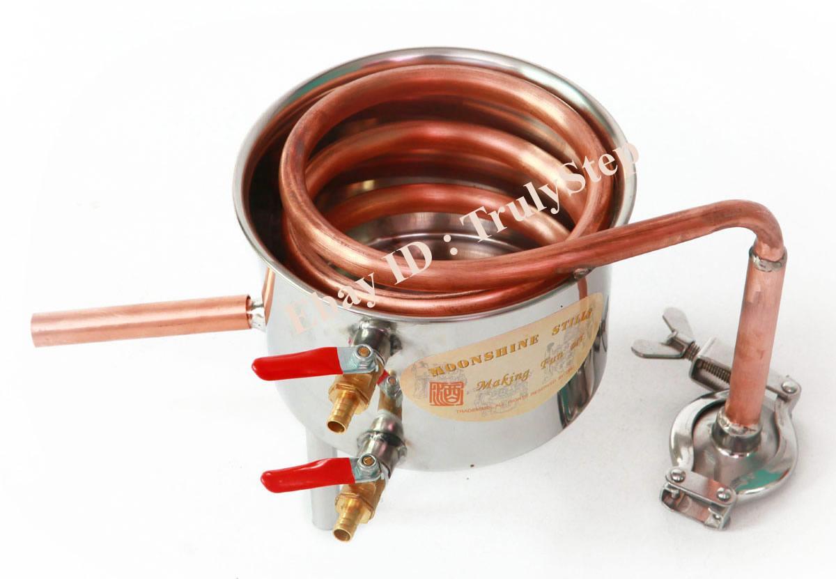 827349800_o 10 L Alambique Destilador Cobre Enfriador Termometro Vino Agua Esencial Aceite