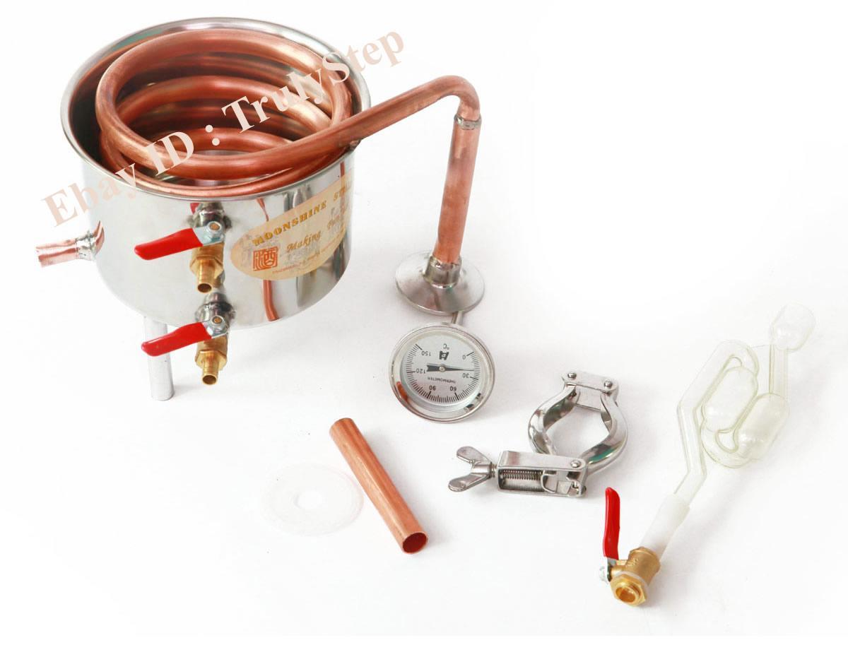 827349814_o 10 L Alambique Destilador Cobre Enfriador Termometro Vino Agua Esencial Aceite