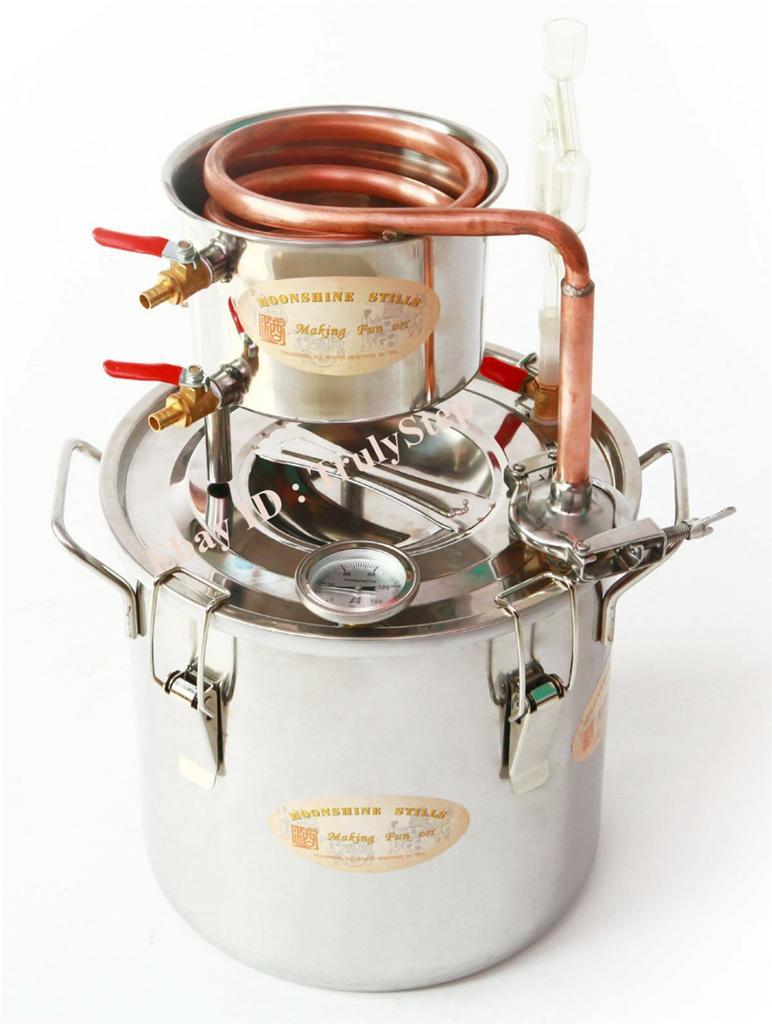 827349822_o 10 L Alambique Destilador Cobre Enfriador Termometro Vino Agua Esencial Aceite