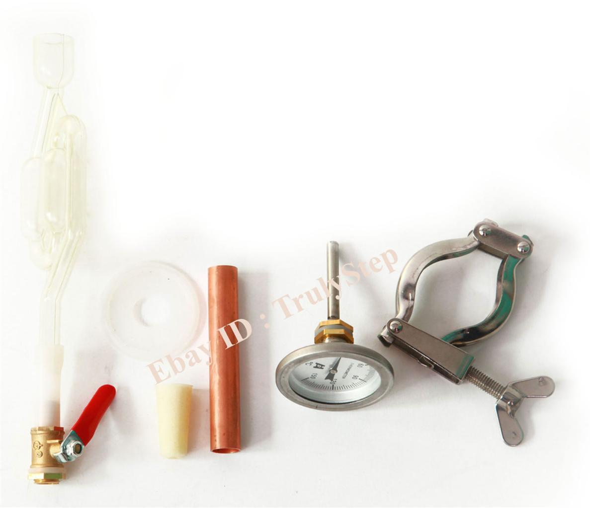 827349866_o 10 L Alambique Destilador Cobre Enfriador Termometro Vino Agua Esencial Aceite