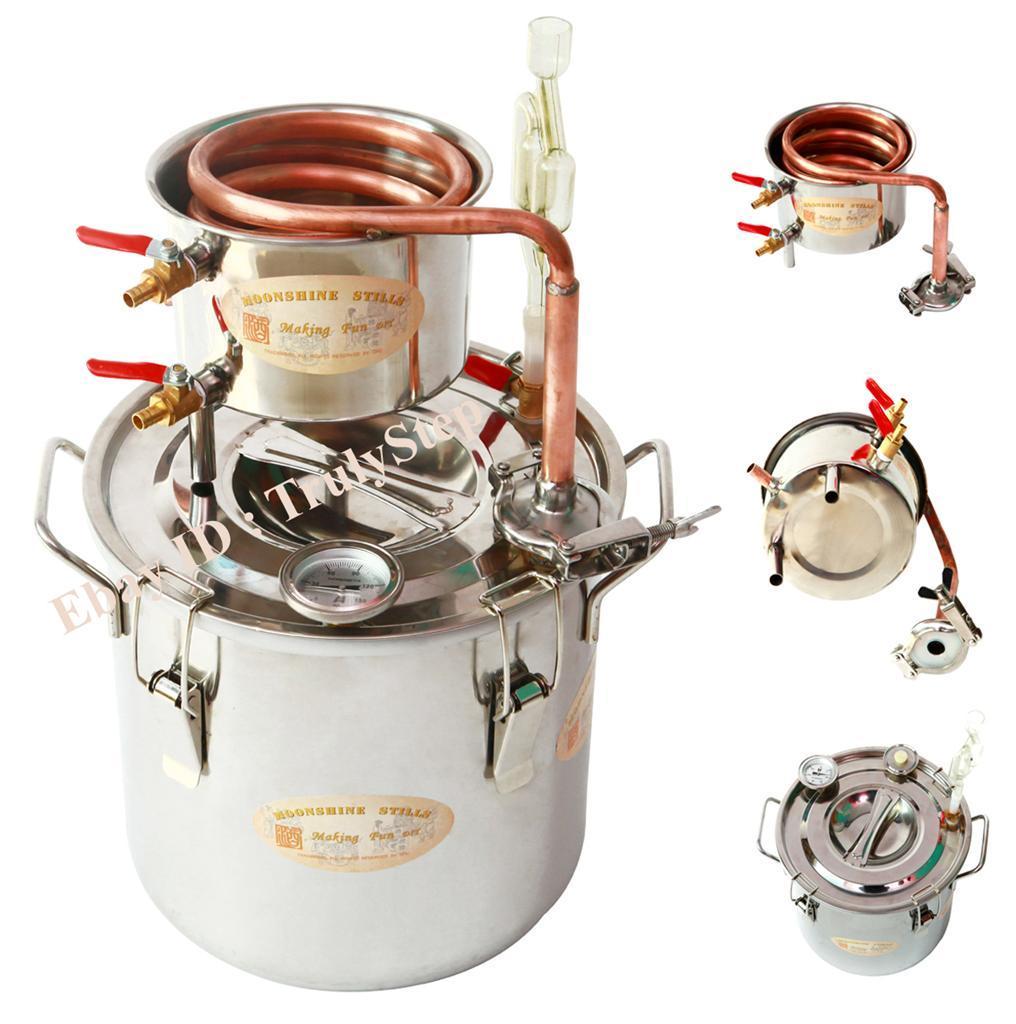 828397692_o 10 L Alambique Destilador Cobre Enfriador Termometro Vino Agua Esencial Aceite