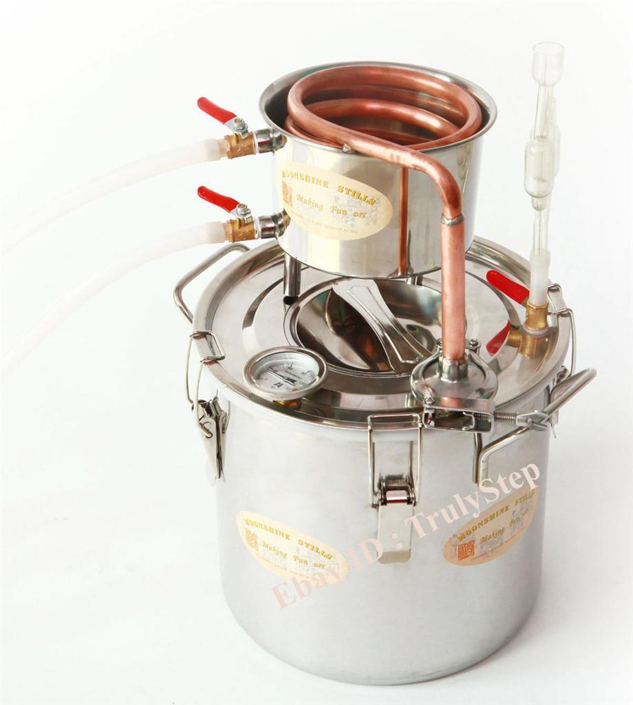 828397704_o 10 L Alambique Destilador Cobre Enfriador Termometro Vino Agua Esencial Aceite