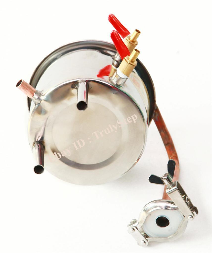 828397719_o 10 L Alambique Destilador Cobre Enfriador Termometro Vino Agua Esencial Aceite