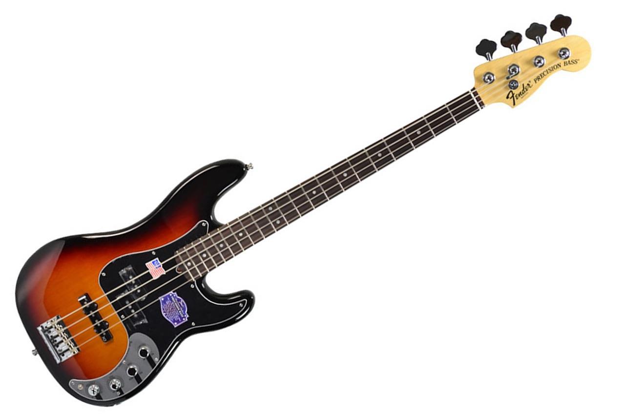 fender american deluxe precision bass 3 tone sunburst electric bass p bass ebay. Black Bedroom Furniture Sets. Home Design Ideas