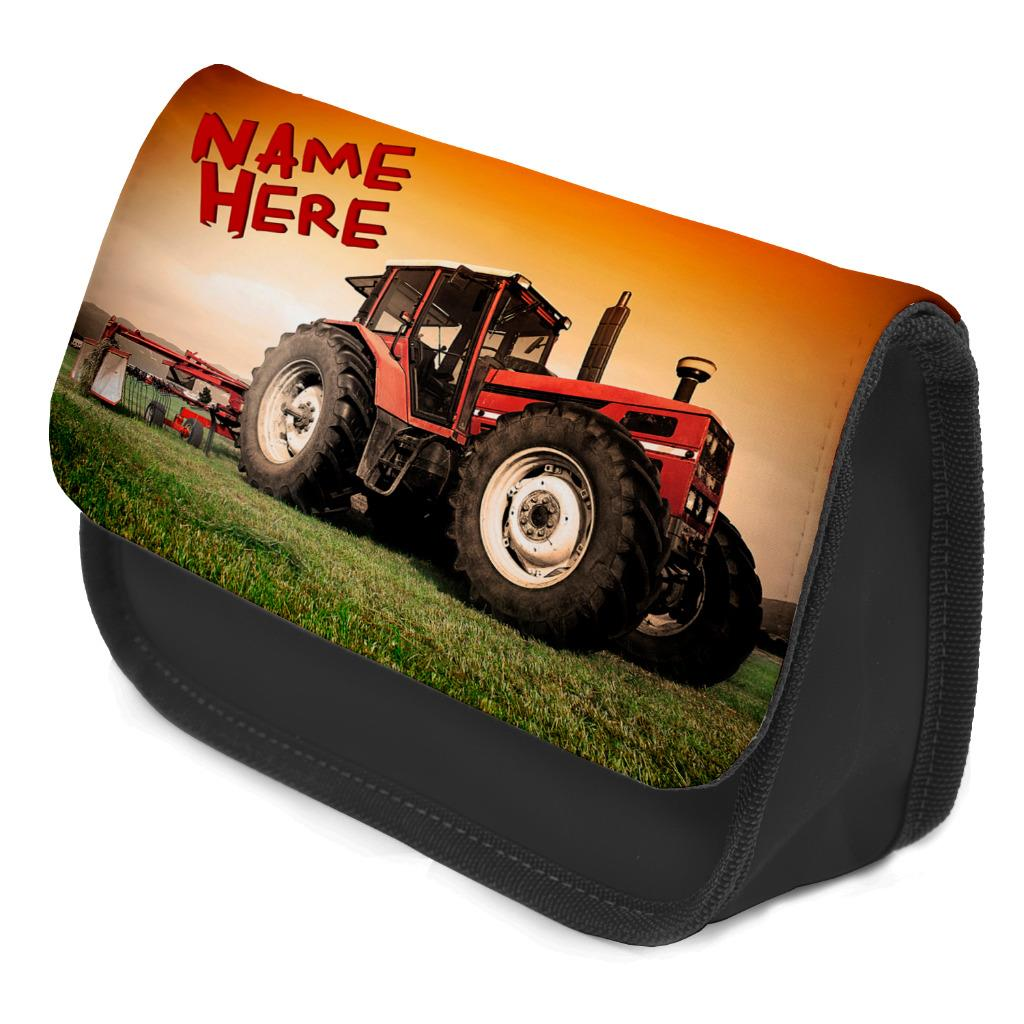 Personalised Pencil Case TRACTOR FARM School Kids Boys Stationary Bag ST176