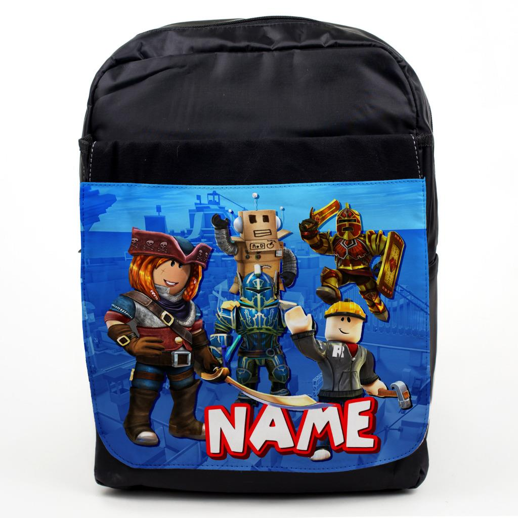 Personalised Kids Backpack Any Name Roblox Boys Childrens Back To School Bag 8