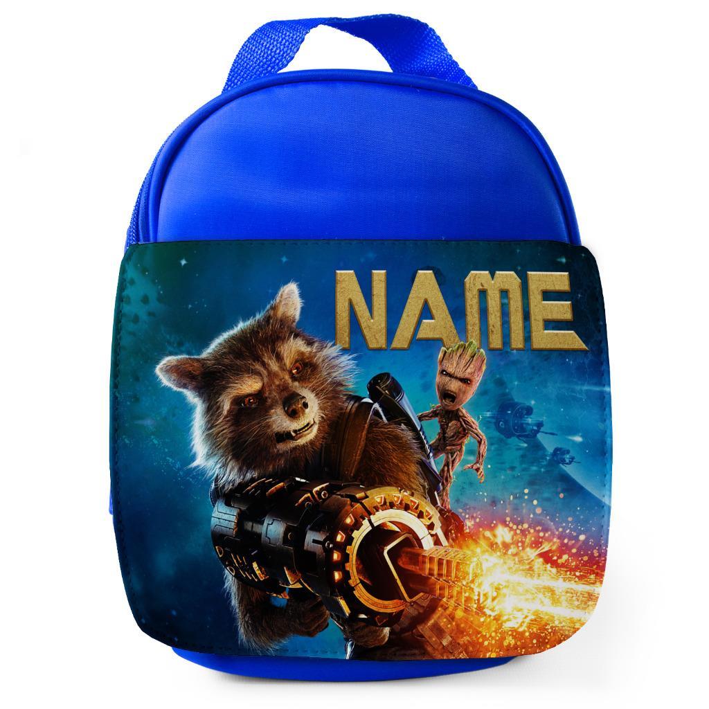Personalised Boys School Bag JURASSIC DINOSAUR Backpack Name Red JP02